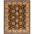Handmade Heritage Treasure Brown/ Ivory Wool Rug (7'6 x 9'6)