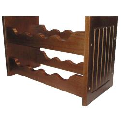 Mission Style 8-bottle Pine Wine Rack