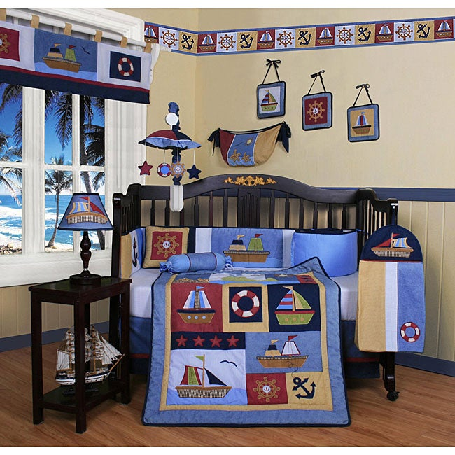 Geenny Sailor 13-piece Crib Bedding Set