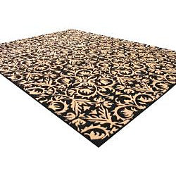 Hand-tufted 'Marla' Black Wool Rug (5' x 8')
