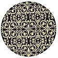Hand-tufted 'Marla' Black Wool Rug (6' Round)