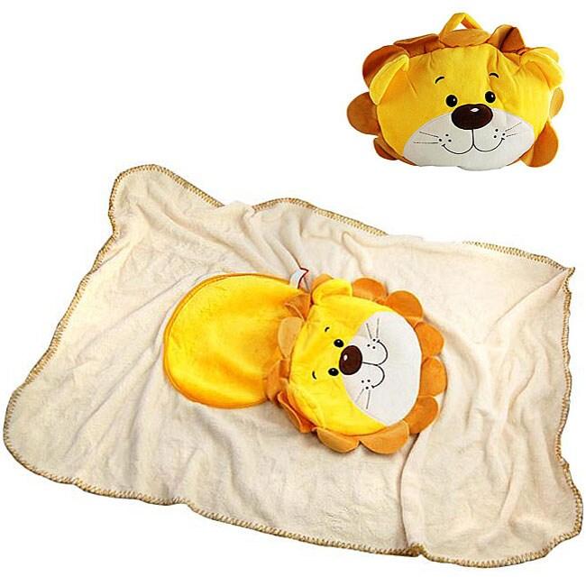 H2W Kid's Plush Lion Animal Blanket