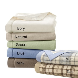 Simple Luxury Matte Satin Binding Polyester Microfleece Blanket