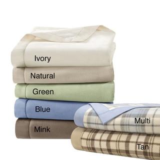 Simple Luxury Matte Satin Binding Polyester Microfleece Blanket