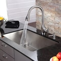 Kraus Kitchen Combo Set Stainless Steel 32-inch Undermount Sink/Faucet