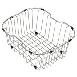 Kraus Stainless-Steel Kitchen Sink Rinse Basket with Rubber Bumpers