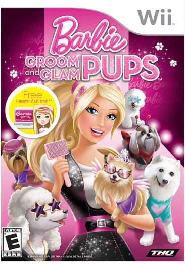 Wii - Barbie - Groom and Glam Pups - By THQ