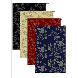 Impressions Black Abstract Rug (3'3 x 4'11)