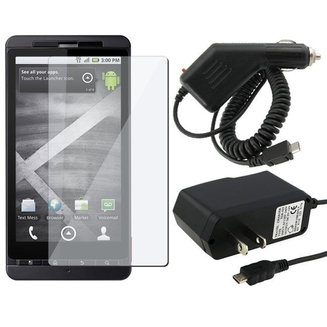 INSTEN 3-pack Combo Kit for Motorola MB810 Droid X