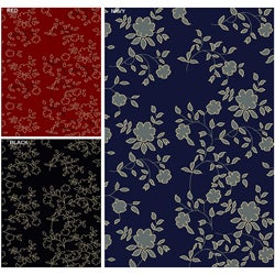 Impressions Floral Abstract Rug (5'5 x 7'7)