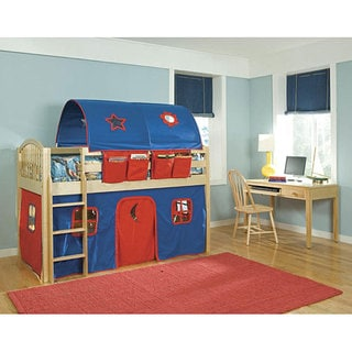 VP Home Lowell Junior Blue/ Red Twin-size Loft/ Tent Bed