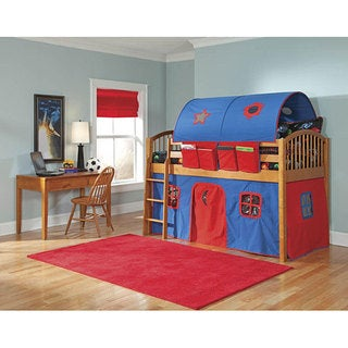 VP Home Lowell Junior Loft Honey Birch Twin Loft Bed