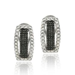 DB Designs Sterling Silver 1/3ct TDW Black Diamond Earrings