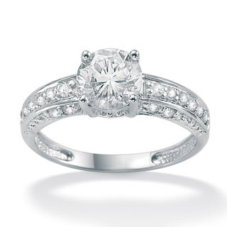 Ultimate CZ 10k White Gold Round Cubic Zirconia Ring