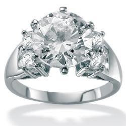 PalmBeach CZ 10k White Gold Cubic Zirconia Fashion Ring Glam CZ