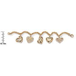 PalmBeach CZ Gold Overlay Cubic Zirconia Bracelet Glam CZ