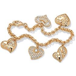 Ultimate CZ Gold Overlay Cubic Zirconia Bracelet
