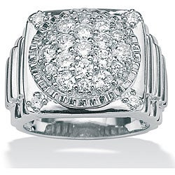 Ultimate CZ Men's Gold over Silver Cubic Zirconia Ring