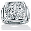 Palmbeach CZ Men's Gold over Silver Cubic Zirconia Ring