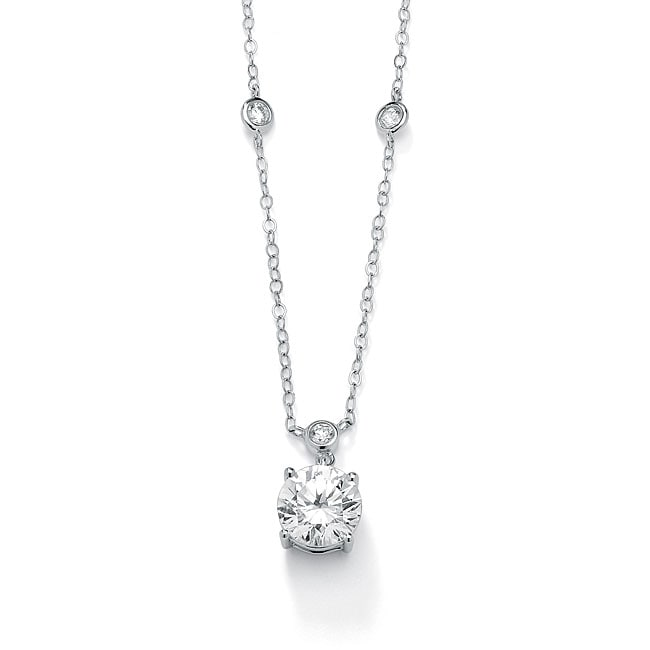 Ultimate CZ Gold over Silver Cubic Zirconia Necklace