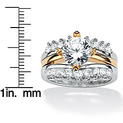 Ultimate CZ Sterling Silver Cubic Zirconia Wedding Ring