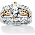 PalmBeach CZ Sterling Silver Cubic Zirconia Wedding Ring Classic CZ