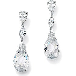 Ultimate CZ Sterling Silver Cubic Zirconia Dangle Earrings