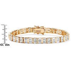 Ultimate CZ Gold Overlay Clear Cubic Zirconia Tennis Bracelet