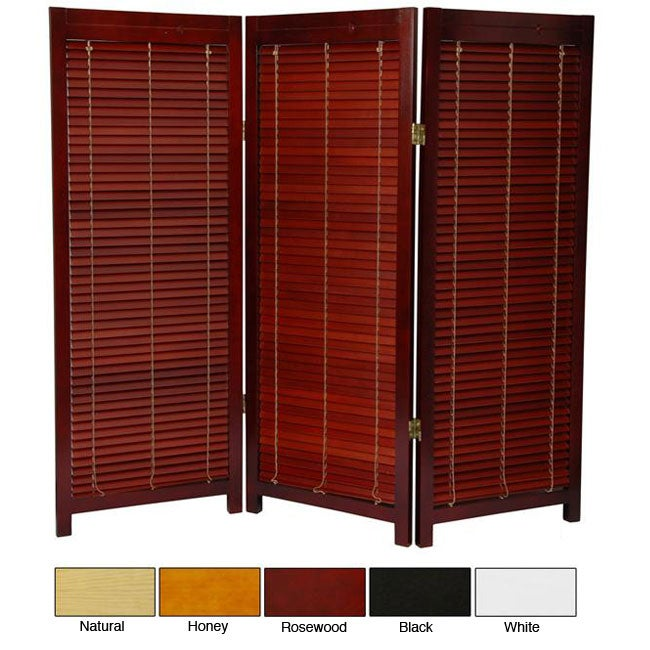 Wooden 4-foot Shutter Screen (China)