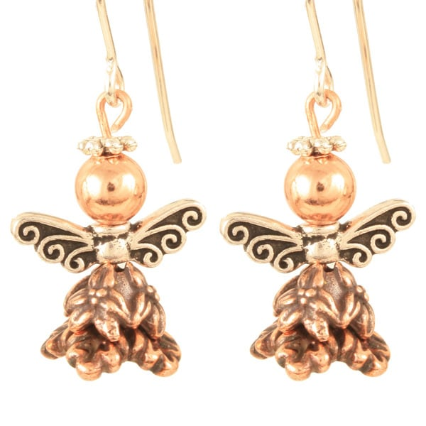 Copper 'Luna Cuprium' Angel Earrings