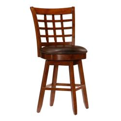 Landon 24-inch Wheat-back Cherry Wood Counter-height Stool