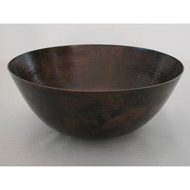 Bronze Vessel Sink : Oil Rubbed Bronze 13-inch 15-gauge Copper Vessel Sink - 13126053 ...