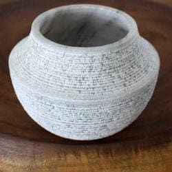 Grey Marble Rough Votive Vase (Thailand)