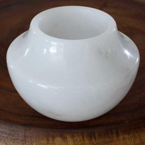 White Marble Smooth Votive Vase (Thailand)