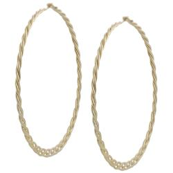 Goldfill 45-mm Braided Hoop Earrings