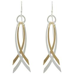 Tressa Goldfill Sterling Silver Dangle Earrings