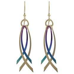 Goldfill, Alloy and Niobium Dangle Earrings