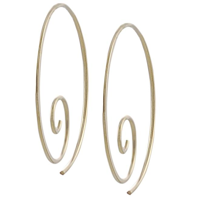 Tressa Goldfill and Sterling Silver Spiral Hoop Earrings