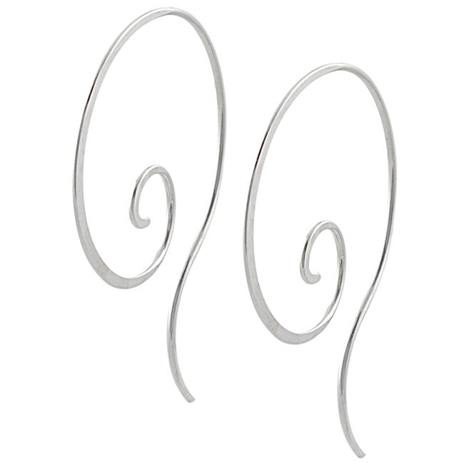 Tressa Sterling Silver Spiral Hoop Earrings
