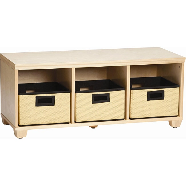 VP Home I-Cubes Storage Bench with Black Baskets