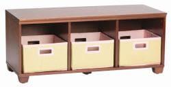 VP Home I-Cubes Pink Basket Storage Bench