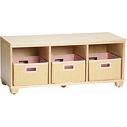 VP Home I-Cubes Pink Basket Storage Bench