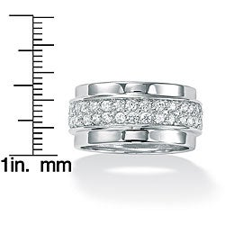 Ultimate CZ Sterling Silver Round Clear Cubic Zirconia Eternity Band