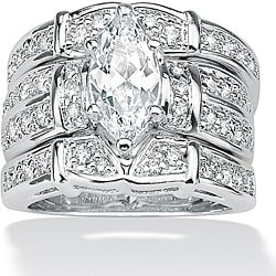 Ultimate CZ Sterling Silver Cubic Zirconia Wide Ring