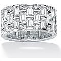 Ultimate CZ White Gold-over-silver Cubic Zirconia Eternity Ring