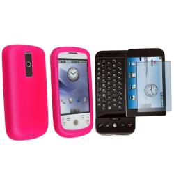 Hot Pink Silicone Case/ Screen Protector for HTC Magic/ T-Mobile G1