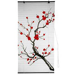 Rice Paper 48-inch Cherry Blossom Shoji Blinds (China)