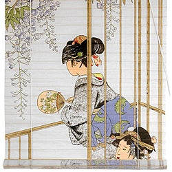 Rice Paper and Bamboo 36-inch Geisha Shoji Blinds (China)