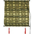 24-inch Shang Hai Tan Black and Gold Blinds (China)