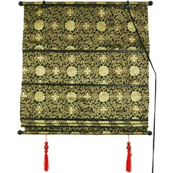 36-inch Shang Hai Tan Black and Gold Blinds (China)